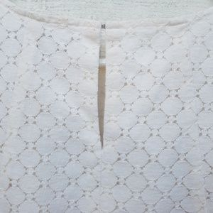 LOFT Tops - LOFT Ivory Lace Sleeveless Top